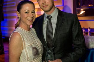 Samantha and Colin Hanks