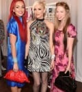 YouTube Star, Kandee Johnson, Gwen Stefani, and YouTube Star Bunny Meyer attend the Harajuku Lovers #PopElectric High Tea With BeautyCon