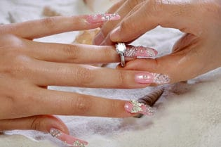 $25,000 Luxury Nail Manicure with Diamonds