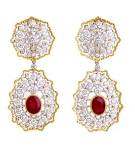 Buccellati 18k Ruby Diamond dangle