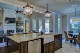Modern Kitchen Interior design with farmhouse Sink
