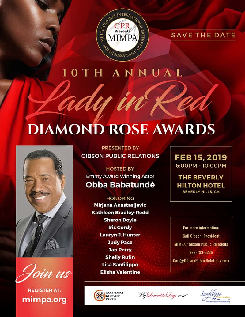 Lady In Red Diamond Rose Awards #beverlyhills #beverlyhillsmagazine #awards #events #celebrities