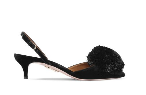 Aquazurra Pom-Pom Heels. BUY NOW!!! #beverlyhillsmagazine #beverlyhills #fashion #style #shop #shopping #shoes #highheels
