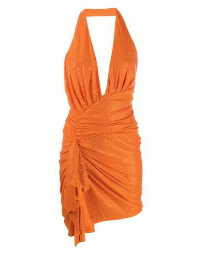 Orange Halter Alexandre Vauthier Dress. BUY NOW!!! #fashion #style #shop #shopping #clothing #beverlyhills #shoes #designer #highheels #purses #skirt #dresses #handbags #stylemagazine #fashionmagazine #fashionworld #fashionblog #love #clothes #beverlyhillsmagazine #bevhillsmag