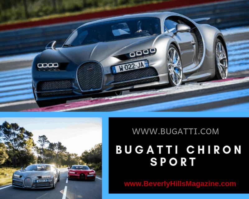 Silver Bugatti and Red Bugatti On The Road Racing