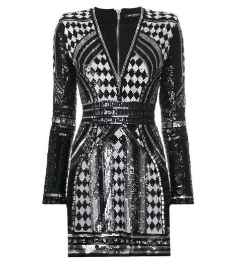 Balmain Paillette Short Dress