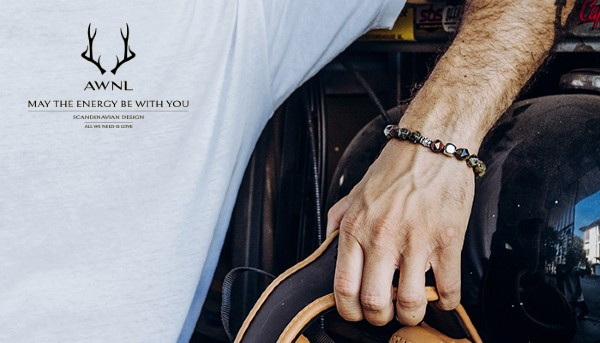 Beverly Hills Magazine AWNL Dragon Blood Meteorite Bracelet