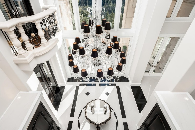 Beverly Hills Magazine Breathtaking Luxury Castle In Colorado doorway grand entrance.jpg