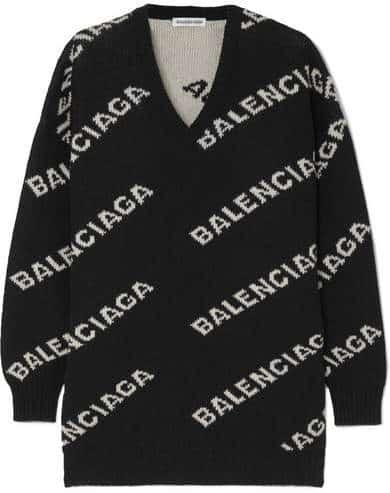 Oversized Balenciaga Sweater. BUY NOW!!! #beverlyhillsmagazine #bevhillsmag #shop #style #shopping #fashion