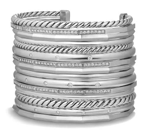 David Yurman Silver Diamond Cuff. BUY NOW!!! #beverlyhills #beverlyhillsmagazine #bevhillsmag #shop #shopping #jewelry
