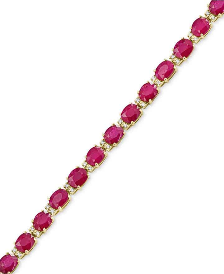 Amore Ruby Tennis Bracelet by Effy. BUY NOW!!! #BevHillsMag #beverlyhillsmagazine #fashion #style #shopping #jewelry
