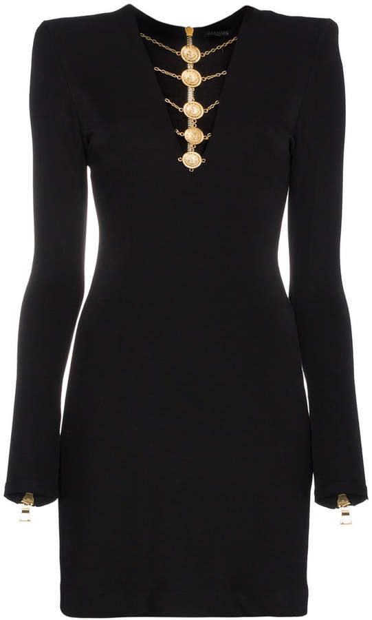 Balmain Mini-Dress. BUY NOW!!! #BevHillsMag #beverlyhillsmagazine #fashion #style #shopping