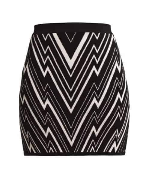 Balmain ZigZag Skirt. BUY NOW!!! #beverlyhillsmagazine #beverlyhills #fashion #style #shop #shopping #shoes #highheels
