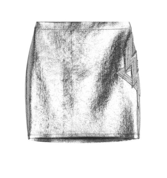Silver #Balmain Mini Skirt. BUY NOW!!! #beverlyhillsmagazine #beverlyhills #fashion #style #shop #shopping #shoes #highheels