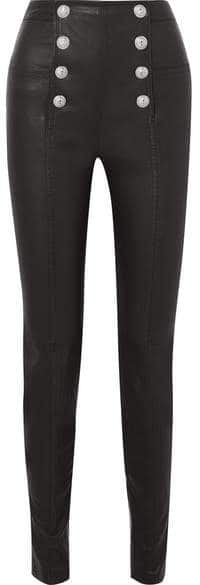 Balmain Leather Pants. BUY NOW!!! ♥ #BevHillsMag #beverlyhillsmagazine #fashion #style #shopping