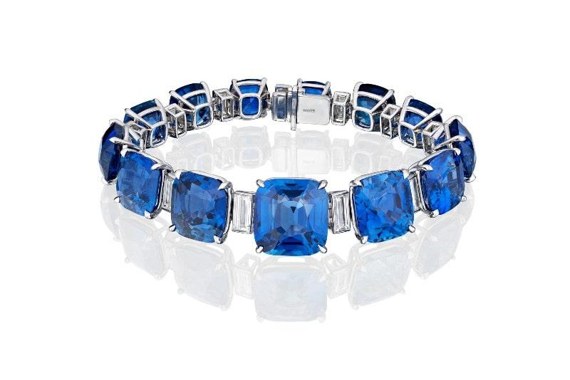 Beverly Hills Magazine Ceylon Sapphire Bracelet
