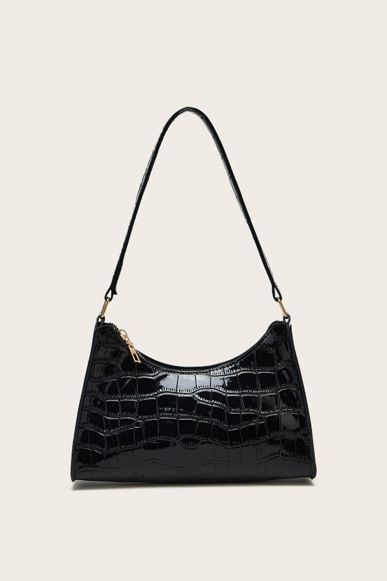 Beverly Hills Magazine Claire Eden Black Shoulder Bag Blush Mark