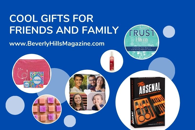Beverly Hills Magazine Cool Gifts For Friends And Family Social Media Graphic