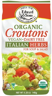 Beverly Hills Magazine Edward & Sons™ Organic Italian Herb Croutons #coolgifts #bevhillsmag #edwardsons #organicitalicherb