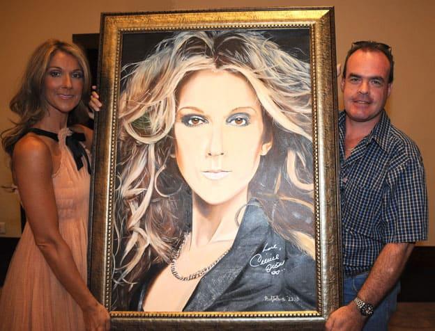 Portrait of Celine Dion by Paul Treleven