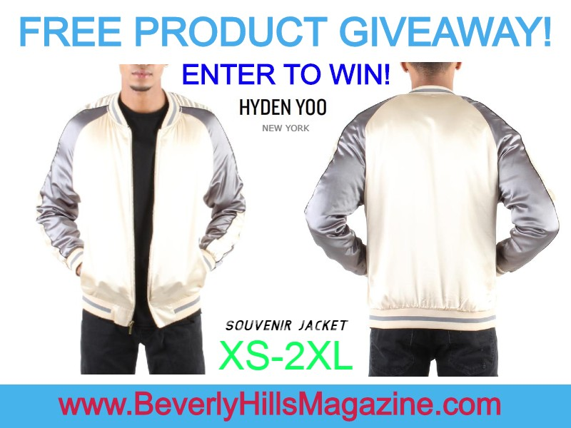 #FREE PRODUCT #GIVEAWAY! ENTER TO #WIN NOW!!! HYDEN YOO #SOUVENIR #JACKET! #beverlyhillsmagazine #bevhillsmag #fashion #style #clothing #love