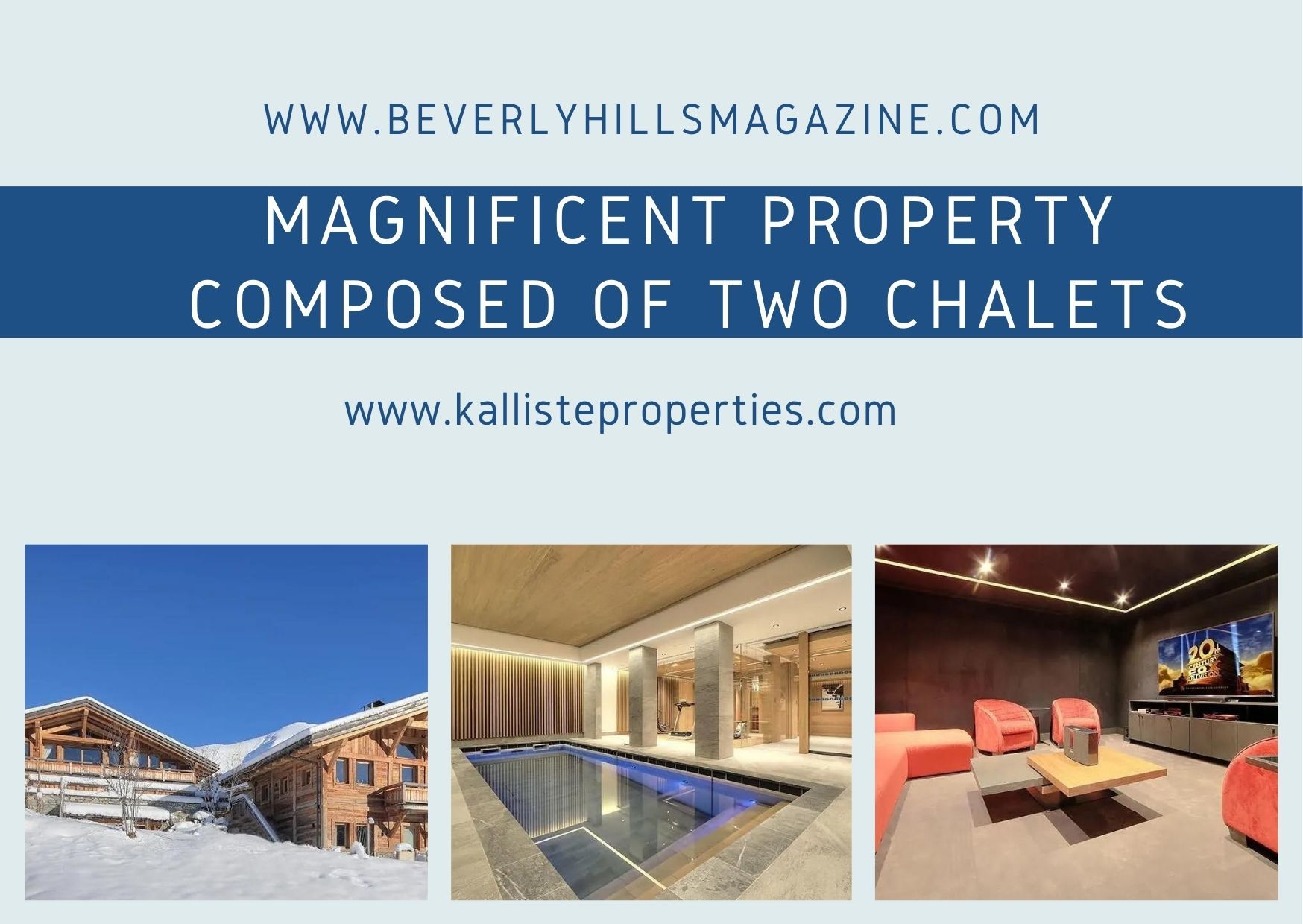 Beverly Hills Magazine French Property Magnificent Property Composed Of Two Chalets #bevhillsmag #luxuryrealestate #frenchproperty #chaletforsale