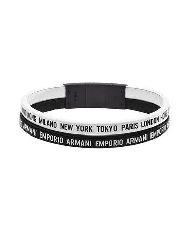 Beverly Hills Magazine Giorgio Armani Stainless Multi-Strand Bracelet