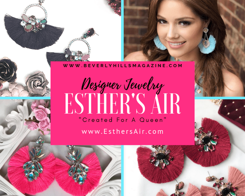 Created For A Queen: Esther's Air Jewelry #beautiful #earrings #designer #fashion #style #jewelry #colorful #jewellery #beverlyhills #beverlyhillsmagazine #bevhillsmag #bible #jesus #queen #esther #jewelry