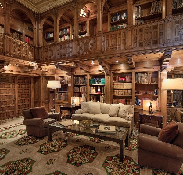 Beverly Hills Magazine Historic Hearst Mansion Library