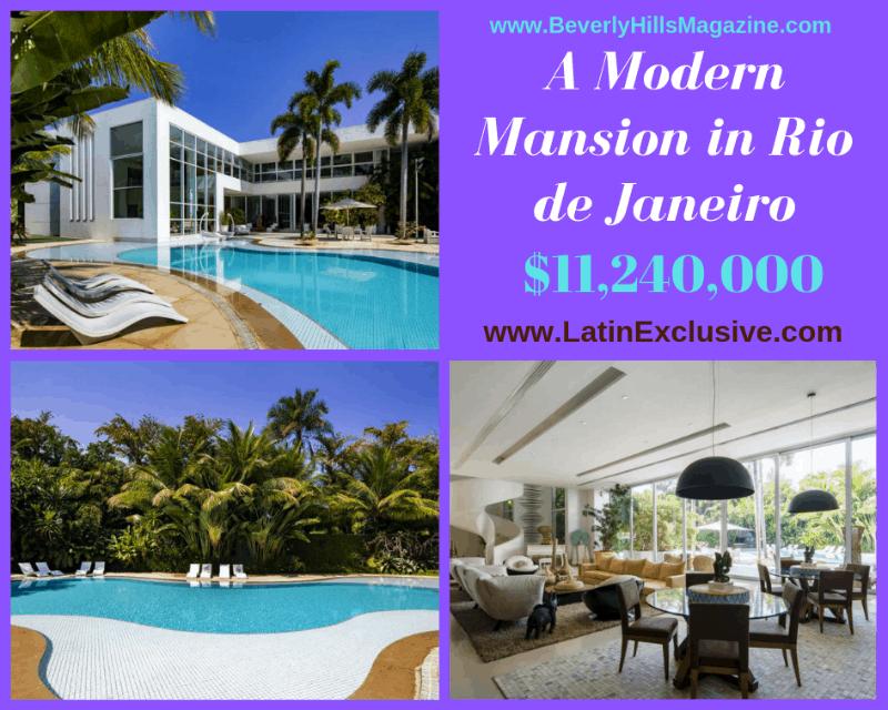A Modern #Mansion in Rio de Janeiro #luxury #realestate #homesforsale #riodejaneiro #brasil #dreamhomes #beverlyhills #bevhillsmag #beverlyhillsmagazine