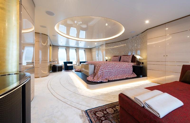 Beverly Hills Magazine Luxury Yacht master suite