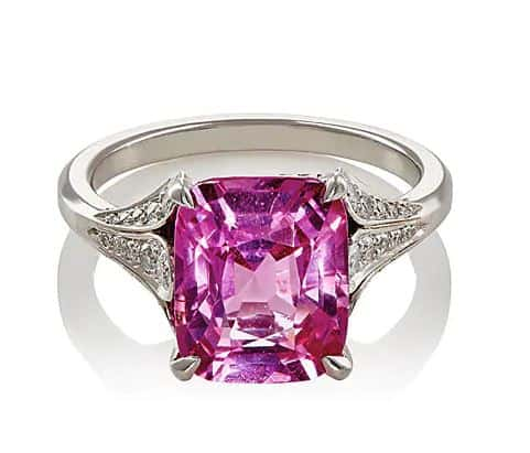 McTeigue & McClelland Women's Flora Ring. BUY NOW!!! #rings #jewelry #pink #diamonds #bevhillsmag #beverlyhills #beverlyhillsmagazine