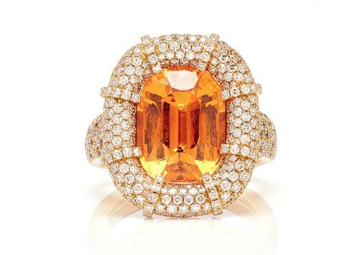 Martin Katz Garnet Diamond Ring