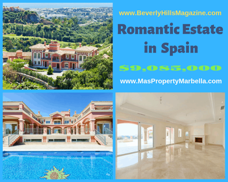 A Romantic Luxury Estate in Benahavis, Spain $9,085,000 #Luxury #dreamhomes #spain #realestate #homesforsale #beverlyhills #beverlyhillsmagazine #mediterranean #exclusive #luxurylifestyle #beautiful #life #beverlyhills #BevHillsMag