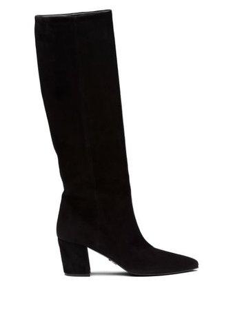 Beverly-Hills-Magazine-Prada-Calf-High-Slip-Boots