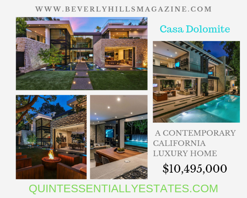 A Contemporary California Luxury Home #dreamhomes #homesforsale #beautiful #dreamhome #california #hollywoodhills #realestate #dreamhomes #beverlyhills #beverlyhillsmagazine ⠀