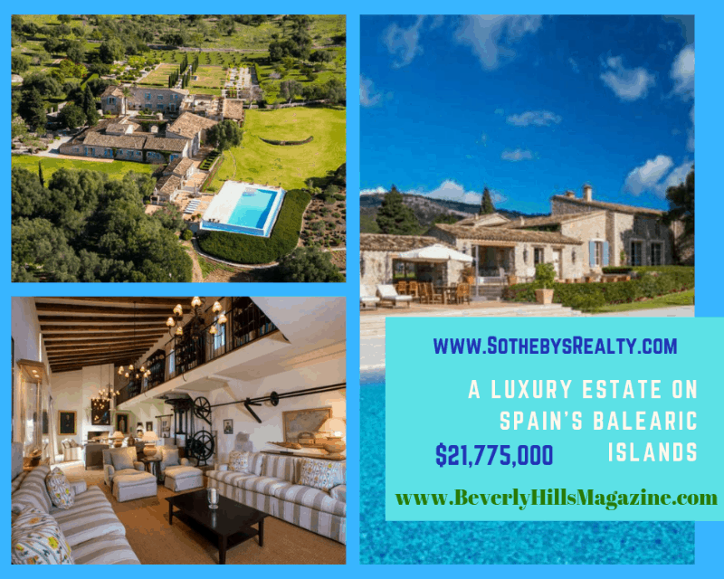 A Luxury Estate on Spain's Balearic Islands #dreamhomes #realestate #homesforsale #Madrid #mansions #estates #beverlyhills #beverlyhillsmagazine #luxury #exclusive #luxurylifestyle #beautiful #life #beverlyhills #BevHillsMag #Mallorca #balearicislands #espana #Spain #villa