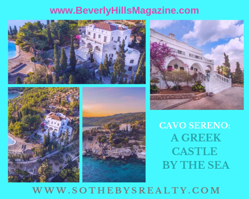 Cavo Sereno: A Greek Castle by the Sea #dreamhomes #Greece #luxuryhome #dreamhomes #island #life #realestate #homesforsale #beverlyhillsmagazine #beverlyhills #BevHillsMag