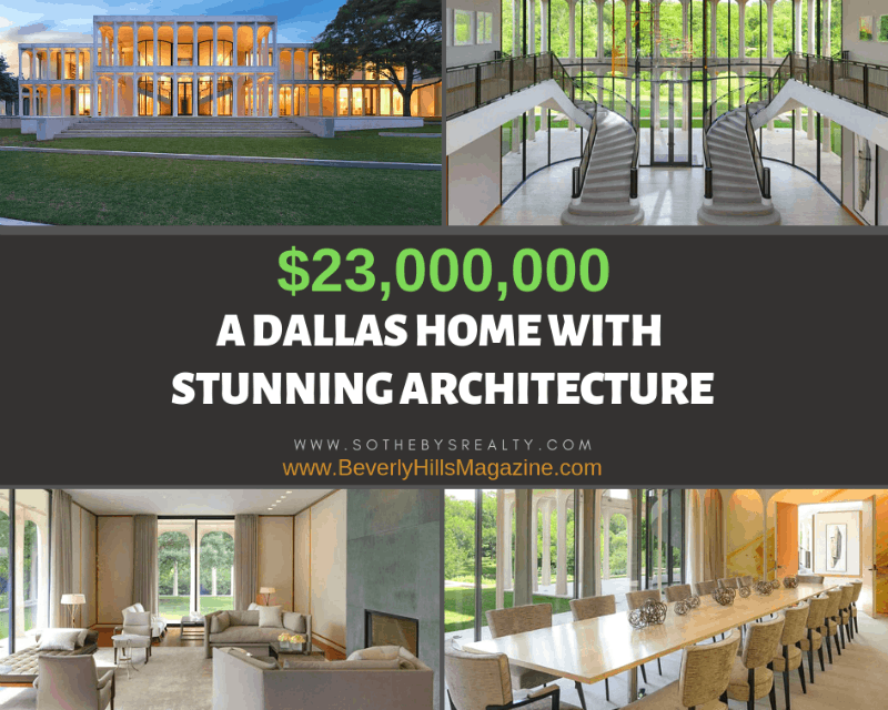 A #Dallas Home With Stunning Architecture #USA #dreamhomes #realestate #homesforsale #beverlyhills #beverlyhillsmagazine #luxury #exclusive #luxurylifestyle #beautiful #life #beverlyhills #dallas #texas #BevHillsMag