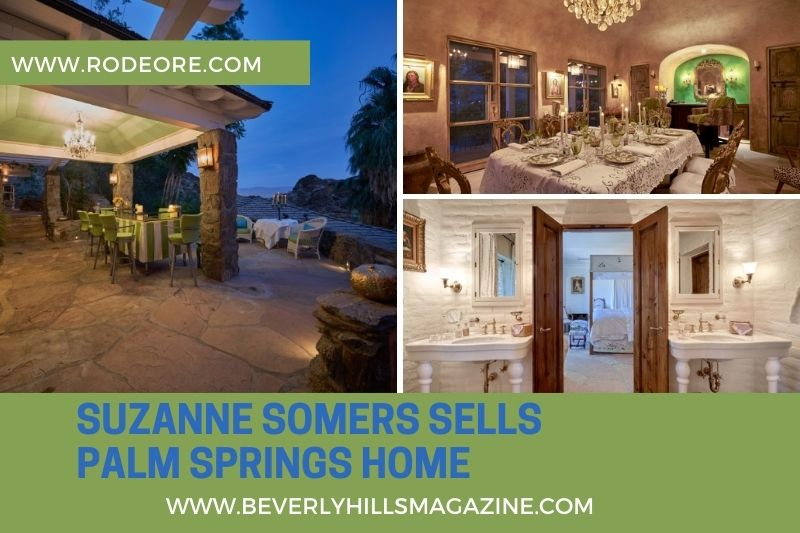 Beverly Hills Magazine Suzanne Somers Sells Palm Springs Home Social Media Graphic