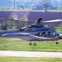 AUGUSTA 139W HELICOPTER TAKING OFF