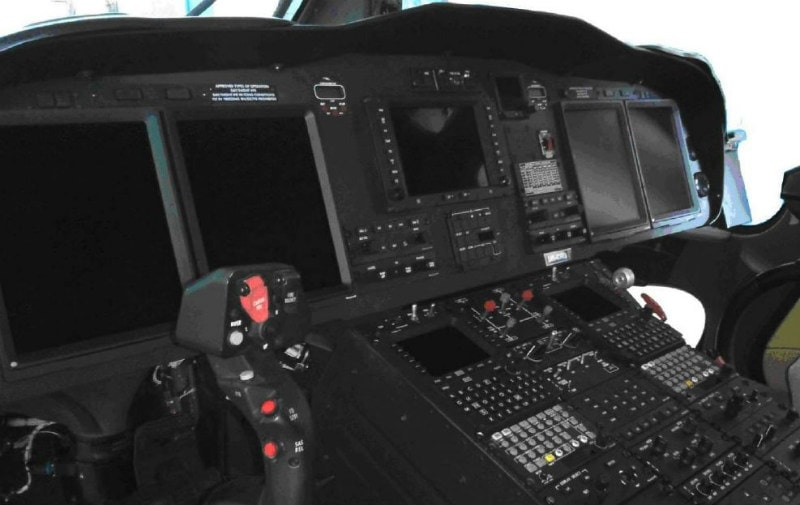 Agusta 139W Helicopter Cockpit