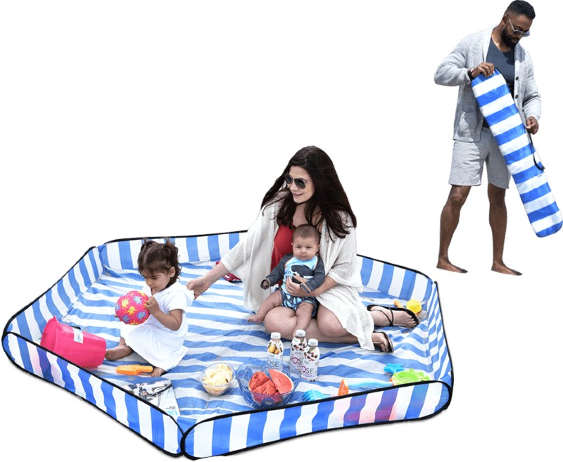 Beverly hills magazine sandy bumz beach mat