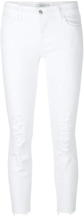 J Brand Cropped Ripped Jeans. BUY NOW!!! #BevHillsMag #beverlyhillsmagazine #fashion #style #shopping