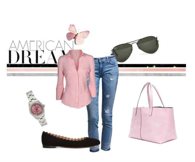 Casual #Pink Style. SHOP NOW!!! #beverlyhills #beverlyhillsmagazine #bevhillsmag #shop #fashion #style #handbags #versace #SHOP #shopstyle
