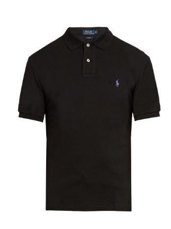 Black Polo Shirt for Men by Ralph Lauren