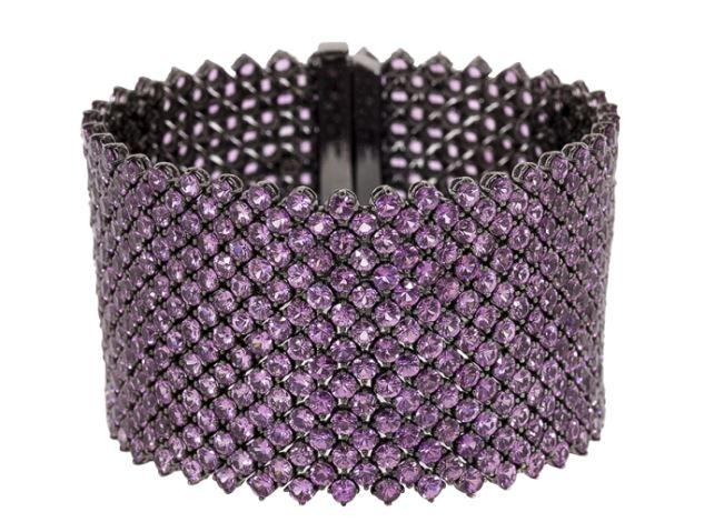 Bayco Pink Sapphire Cuff Diamond Bracelet