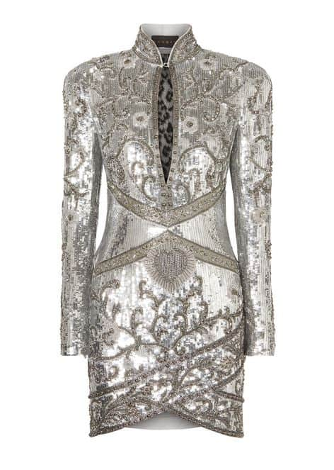 Dundas Silver Dress. BUY NOW!!! #fashion #style #shop #shopping #clothing #beverlyhills #shoes #designer #manoloblahnik #highheels #dundas #dress #stalvey #dresses #beverlyhillsmagazine #bevhillsmag #dresses