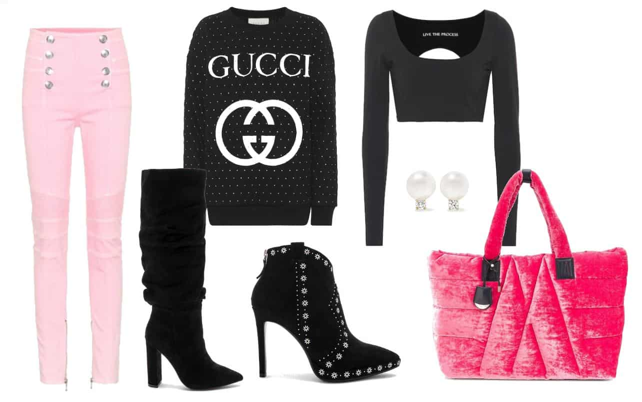 Duo-Tone GUCCI Style In Pink And Black. SHOP NOW!!! #shop #fashion #style #shop #shopping #clothing #beverlyhills #dress #shoes #boots #beverlyhillsmagazine #bevhillsmag #handbags #purses #bags #jewelry #jewellery #rings #diamonds #diamond #ring #highheels #shoes #shopstyle #handbags #handbag #purses