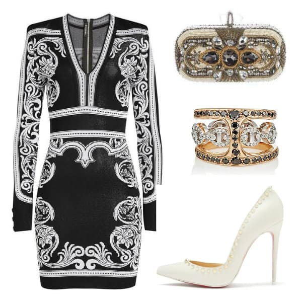 #Balmain #Dress Style. SHOP NOW!!! #BevHillsMag #beverlyhillsmagazine #fashion #shop #style #shopping